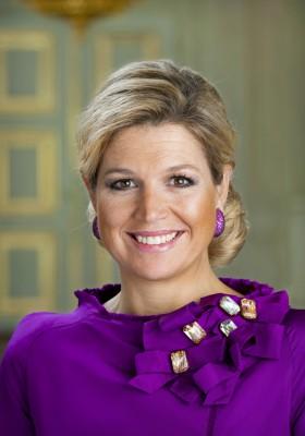 DEN HAAG - Portret Prinses Máxima in Paleis Noordeinde in Den Haag